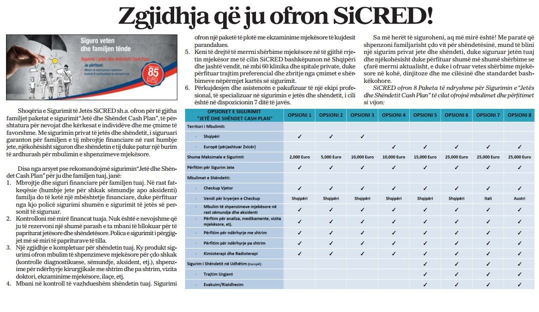SiCRED undertakes the awareness campaign on Life and Health Insurance